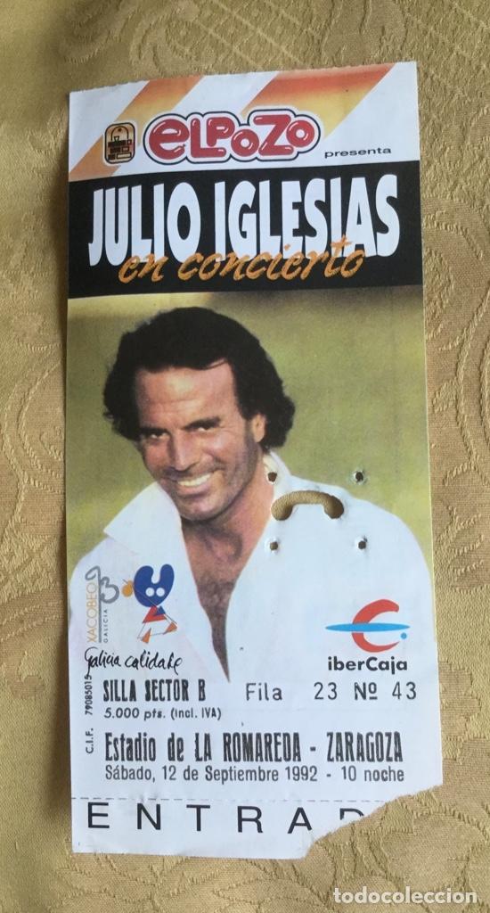 Coleccionismo Papel Varios: ENTRADA CONCIERTO JULIO IGLESIAS AÑO 92 ESTADIO LA ROMAREDA ZARAGOZA - Foto 5 - 180099655