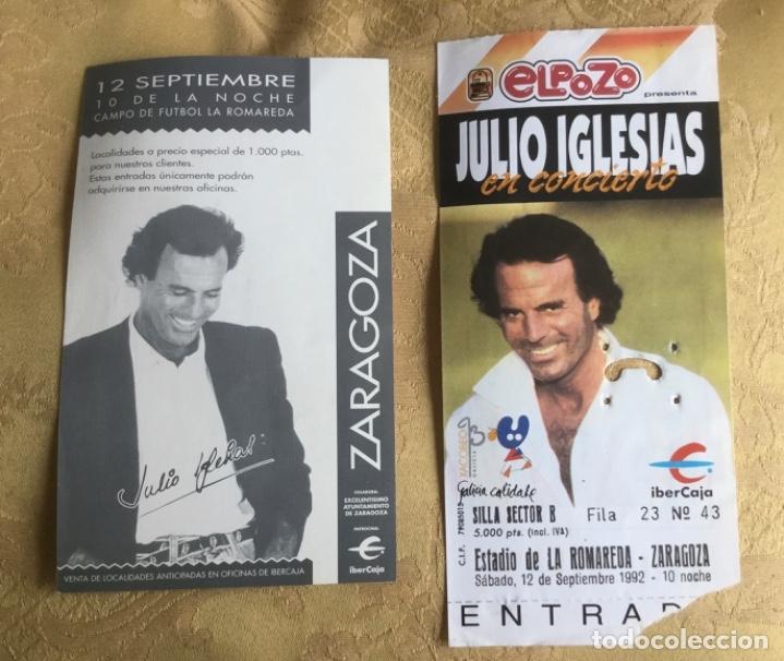 Coleccionismo Papel Varios: ENTRADA CONCIERTO JULIO IGLESIAS AÑO 92 ESTADIO LA ROMAREDA ZARAGOZA - Foto 8 - 180099655