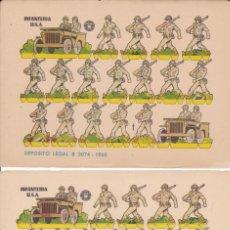 Coleccionismo Papel Varios: 2 HOJAS RECORTABLES INFANTERIA U.S.A. 1960. Lote 180109711