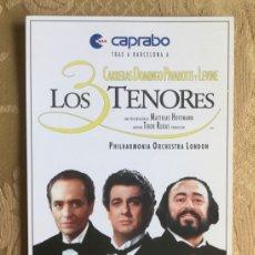 Coleccionismo Papel Varios: ENTRADA DEL CONCIERTO DE LOS 3 TENORES EN EL CAMP NOU AÑO 1997. Lote 180115251