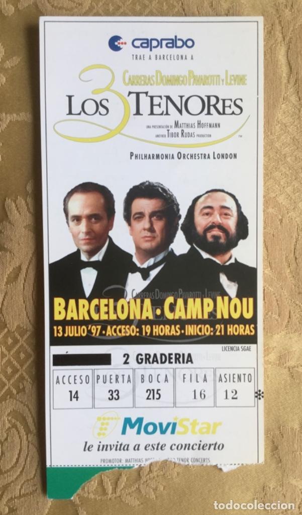 Coleccionismo Papel Varios: ENTRADA DEL CONCIERTO DE LOS 3 TENORES EN EL CAMP NOU AÑO 1997 - Foto 2 - 180115251