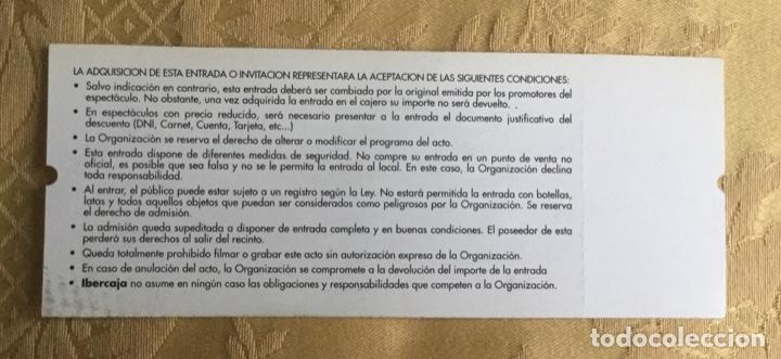 Coleccionismo Papel Varios: ENTRADA CONCIERTO DE ZARAGOZA. DAVID BOWIE AÑOS 1997 - Foto 3 - 180120018