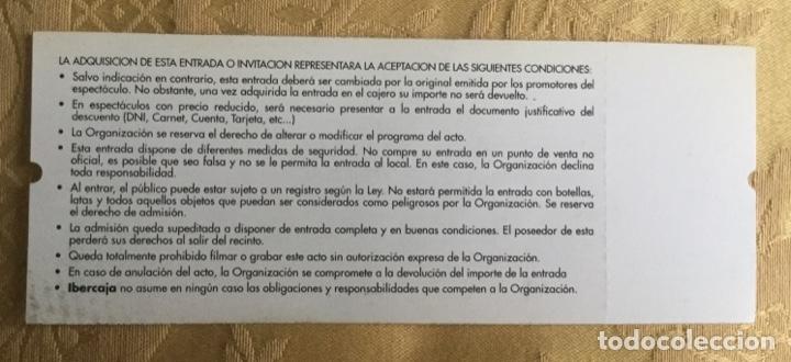 Coleccionismo Papel Varios: ENTRADA CONCIERTO DE ZARAGOZA. DAVID BOWIE AÑOS 1997 - Foto 4 - 180120018