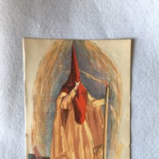 Coleccionismo Papel Varios: SEMANA SANTA SEVILLA. LÁMINA AÑOS 50. NAZARENO DE LA LANZADA. Lote 180125311