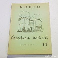 Coleccionismo Papel Varios: ANTIGUO CUADERNO DE ESCRITURA - RUBIO - 11 - TDKC37B. Lote 180205338
