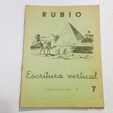 Coleccionismo Papel Varios: ANTIGUO CUADERNO DE ESCRITURA - RUBIO - 7 - TDKC37B. Lote 180205431