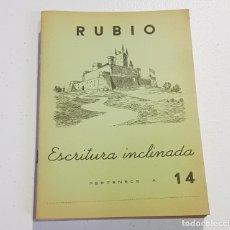 Coleccionismo Papel Varios: ANTIGUO CUADERNO DE ESCRITURA - RUBIO - 14 - TDKC37B. Lote 180205803