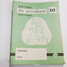 Coleccionismo Papel Varios: CUADERNO - SISTEMA DE ESCRITURA - EDELVIVES - 20 - TDKC37B. Lote 180206222