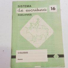Coleccionismo Papel Varios: CUADERNO - SISTEMA DE ESCRITURA - EDELVIVES - 16 - TDKC37B. Lote 180206382