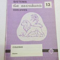 Coleccionismo Papel Varios: CUADERNO - SISTEMA DE ESCRITURA - EDELVIVES - 13 - TDKC37B. Lote 180206395