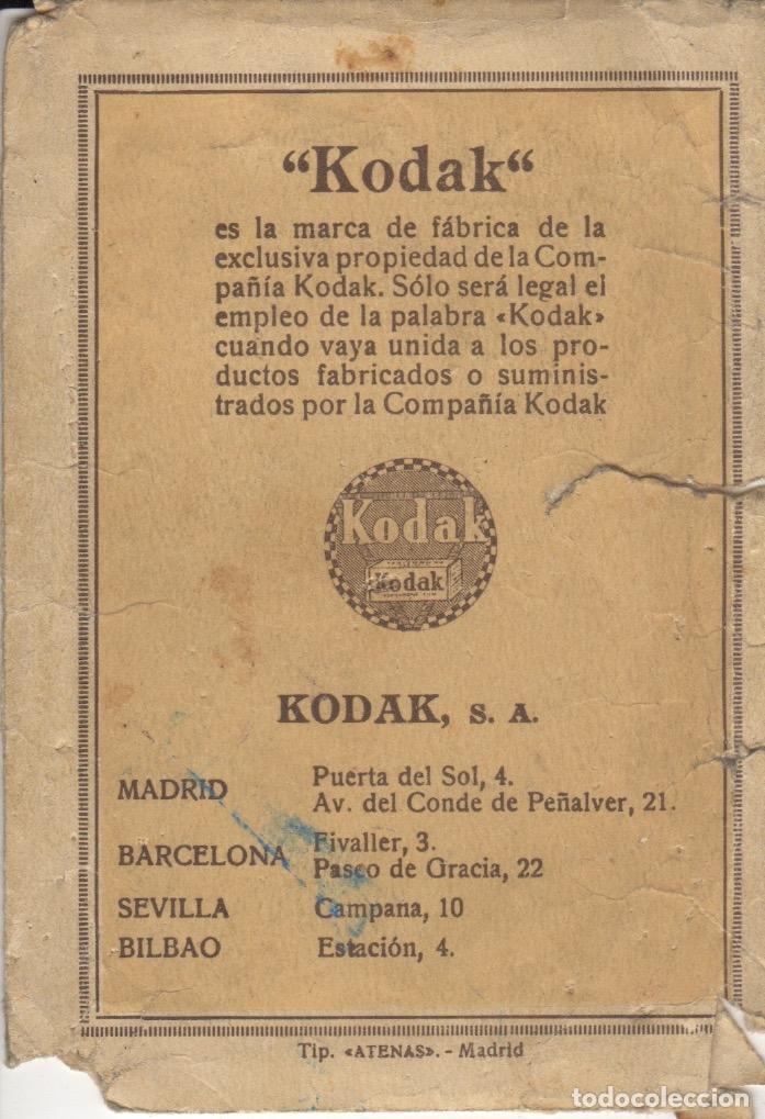 SOBRE PARA FOTOGRAFIAS FOTO DE KODAK S.A. - MADRID - BARCELONA - SEVILLA - BILBAO (Coleccionismo en Papel - Varios)
