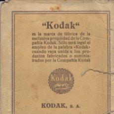 Coleccionismo Papel Varios: SOBRE PARA FOTOGRAFIAS FOTO DE KODAK S.A. - MADRID - BARCELONA - SEVILLA - BILBAO. Lote 180271198