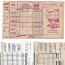 Coleccionismo Papel Varios: QUINIELAS LOTE DE 6, 2 DE 1968 2 DEL 69 Y 2 DEL 74- SIN SELLAR IMPECABLES- LEER ENVIOS. Lote 180463908