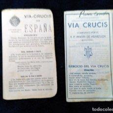 Coleccionismo Papel Varios: VIA CRUCIS POR ESPAÑA. BADAJOZ 1937 Y VIA CRUCIS POR EL P. ANGEL ARBABUZA. Lote 180505645