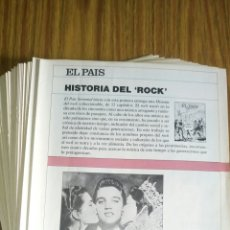 Coleccionismo Papel Varios: HISTORIA DEL ROCK, EL PAÍS (1986) LOTE DE 46 FASCÍCULOS DE 52.. Lote 181024038