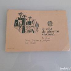 Coleccionismo Papel Varios: FELICITACIÓN NAVIDEÑA - LA CAJA DE AHORROS VIZCAÍNA - EDITORIAL VASCA - BILBAO - AÑOS 50. Lote 181080316