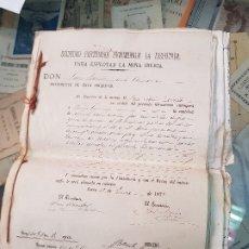 Coleccionismo Papel Varios: DOCUMENTACION SOCIEDAD MINERA LA DISPUTADA MINA IBERIA HERRERIAS ALMERIA LORCA MURCIA S XIX. Lote 181164466