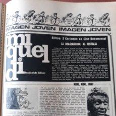 Coleccionismo Papel Varios: NOTICIA DEL X CERTAMEN DE CINE DOCUMENTAL DEL FESTIVAL DE BILBAO - HOJA REVISTA DE 1968. Lote 181487512