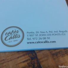 Coleccionismo Papel Varios: 2 LIBRETAS - CAFÉS CALLÍS - OLOT 1962. Lote 181564091