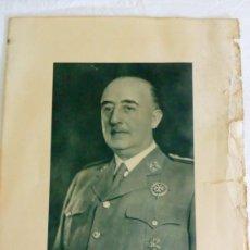 Coleccionismo Papel Varios: FOTOGRAFÍA OFICIAL DE FRANCO 1965. Lote 181903962