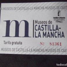Coleccionismo Papel Varios: MUSEOS-ENTRADAS-V37-A-MUSEOS DE CASTILLA LA MANCHA-EL GRECO 2014. Lote 181935980