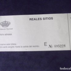 Coleccionismo Papel Varios: MUSEOS-ENTRADAS-V37-A-REALES SITIOS-PATRIMONIO NACIONAL. Lote 181936491