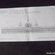 Coleccionismo Papel Varios: MUSEOS-ENTRADAS-V37-A-PALACIO REAL DE LA GRANJA DE SAN ILDEFONSO-PATRIMONIO NACIONAL. Lote 181937045