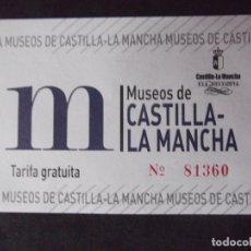 Coleccionismo Papel Varios: MUSEOS-ENTRADAS-V37-A-MUSEOS DE CASTILLA LA MANCHA-EL GRECO 2014. Lote 181937186