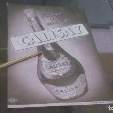Altri oggetti di carta: RECORTE PUBLICIDAD AÑOS 50/60 - LICOR CALISAY. Lote 182005057