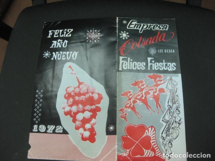 Coleccionismo Papel Varios: EMPRESA COLSADA LES DESEA FELICES FIESTAS. AÑO 1972. TEATROS APOLO, ESPAÑOL, CALDERON,LA LATINA.... - Foto 3 - 182664276