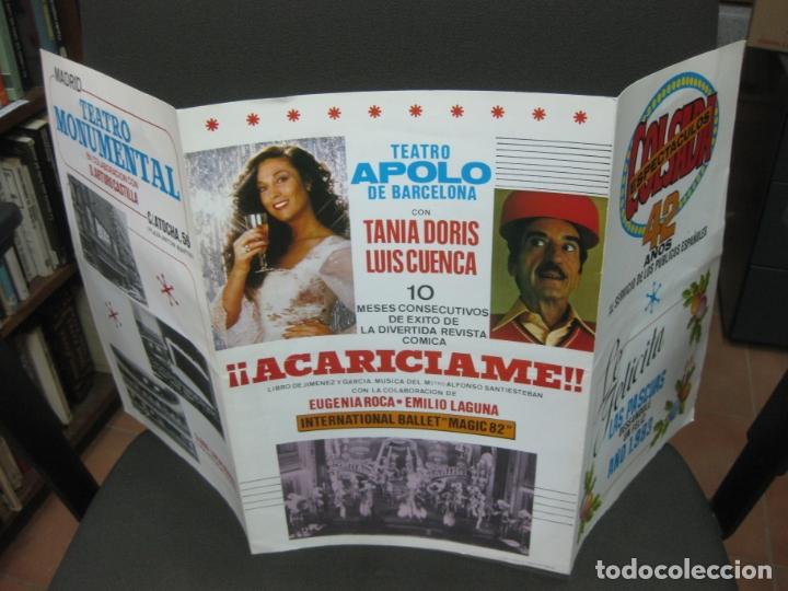 Coleccionismo Papel Varios: COLSADA ESPECTACULOS. 42 AÑOS. FELICES PASCUAS Y FELIZ 1983. - Foto 3 - 182664582