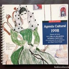 Coleccionismo Papel Varios: AGENDA CULTURAL 1998 FEDERICO GARCÍA LORCA CÍRCULO DE LECTORES NUEVA. Lote 182744745