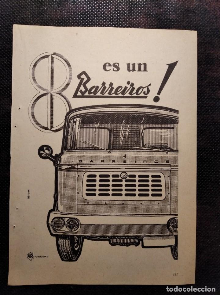 RECORTE PUBLICIDAD. AÑO 1959. BARREIROS. (Coleccionismo en Papel - Varios)