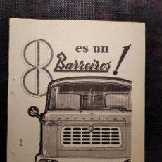 Coleccionismo Papel Varios: RECORTE PUBLICIDAD. AÑO 1959. BARREIROS.. Lote 182756211