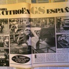Coleccionismo Papel Varios: REPORTAJE AUTOMÓVIL CITROEN GS DE 1971. Lote 182780055
