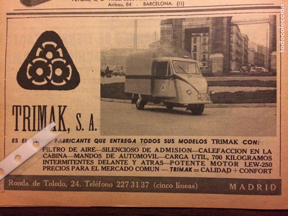 PUBLICIDAD MOTOCARRO TRIMAK DE 1962 (Coleccionismo en Papel - Varios)