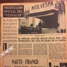 Coleccionismo Papel Varios: REPORTAJE MOTOCARRO VESPA VESPACAR DE 1960. Lote 182896117