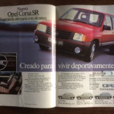 Coleccionismo Papel Varios: PUBLICIDAD AUTOMÓVIL OPEL CORSA DE 1983. Lote 183063645
