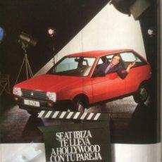 Coleccionismo Papel Varios: PUBLICIDAD AUTOMÓVIL SEAT IBIZA DE 1985. Lote 183076502