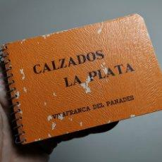 Coleccionismo Papel Varios: BLOC NOTAS LIBRETA PUBLICITARIA CALZADOS LA PLATA VILAFRANCA PANADES AÑOS 40- REF-ZZ. Lote 183086273