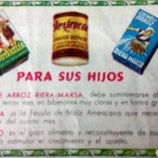 Coleccionismo Papel Varios: VALE OBSEQUIO DE INDUSTRIAS RIERA-MARSA, S. A.. Lote 183251885