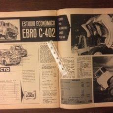 Coleccionismo Papel Varios: REPORTAJE ESTUDIO ECONÓMICO CAMION EBRO C-402 DE 1969. Lote 183313345