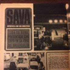 Coleccionismo Papel Varios: REPORTAJE CAMION SAVA DE 1969. Lote 183315287