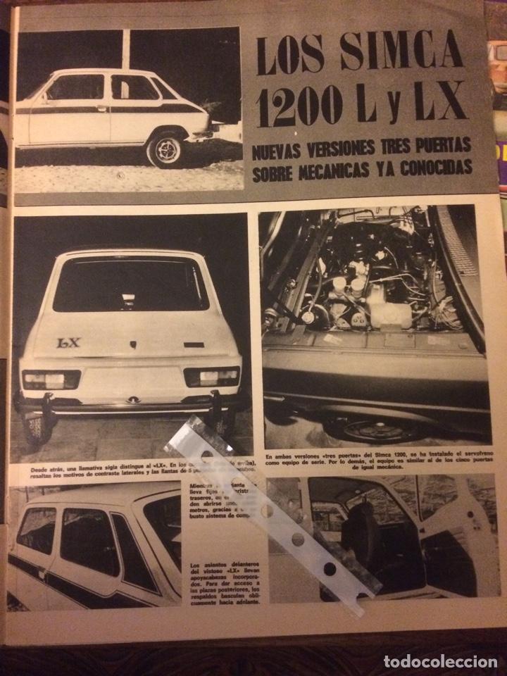 REPORTAJE AUTOMÓVIL SIMCA 1200 DE 1977 (Coleccionismo en Papel - Varios)