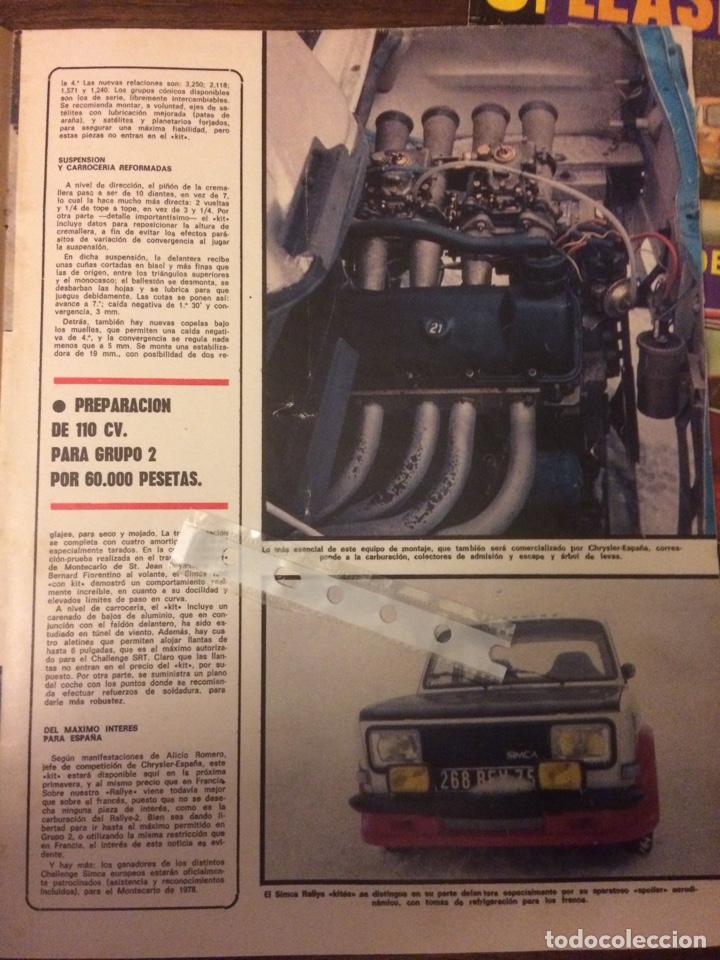 Coleccionismo Papel Varios: Reportaje automóvil Simca 1000 rallye de 1977 - Foto 2 - 183318345