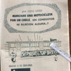 Coleccionismo Papel Varios: PUBLICIDAD MOTO VESPA DE 1958. Lote 183363380
