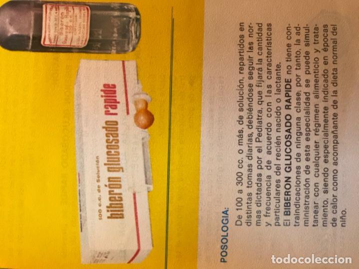 Coleccionismo Papel Varios: Instrucciones de uso biberon glucosado rapide nuevas laboratorios rapide farmacia madrid 16,2 x12 cm - Foto 4 - 183403532
