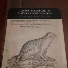 Coleccionismo Papel Varios: CATALOGO SUBASTA SOLER Y LLACH DE LIBROS, MANUSCRITOS Y COLECCIONISMO. NOVIEMBRE 2019.. Lote 183427721