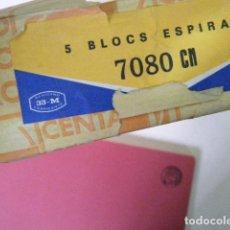 Coleccionismo Papel Varios: LOS 5 CUADERNOS / BLOC CENTAURO. ESPIRAL CUADRICULADO. FOLIO.. Lote 183465751