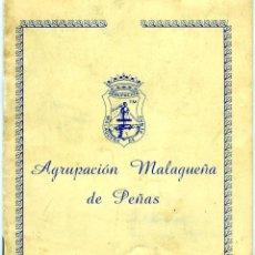Coleccionismo Papel Varios: FOLLETO=AGRUPACIÓN MALAGUEÑA DE PEÑAS AÑO 1985=VER FOTOS ADICIONALES DE ALGUNAS PAGINAS INTERIORES.. Lote 183548283